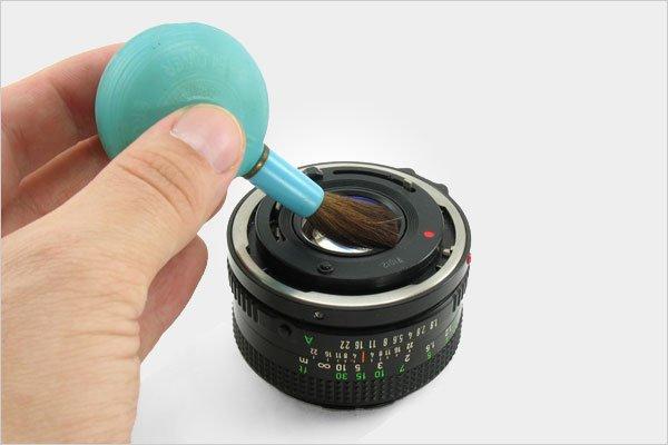 تمیز کردن لنز